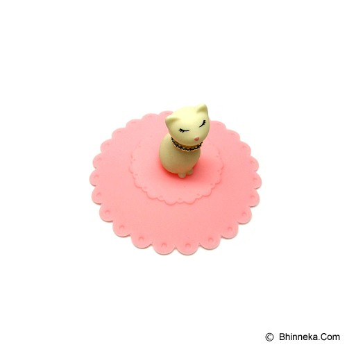 TOKYO1 Tutup Gelas Silicone Model Kucing [TKY11006KCC] - Pink - Gelas